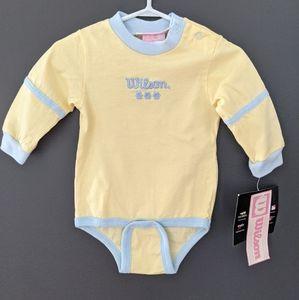 NWT Yellow & blue Wilson tennis onesie/bodysuit